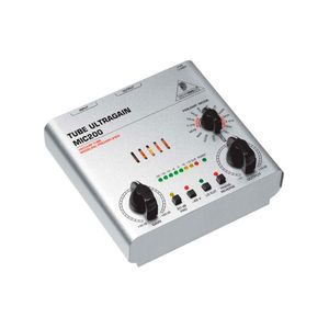 PRE-AMPLIFICADOR-BEHRINGER-TUBE-ULTRAGAIN-MIC200-PROFISSIONAL