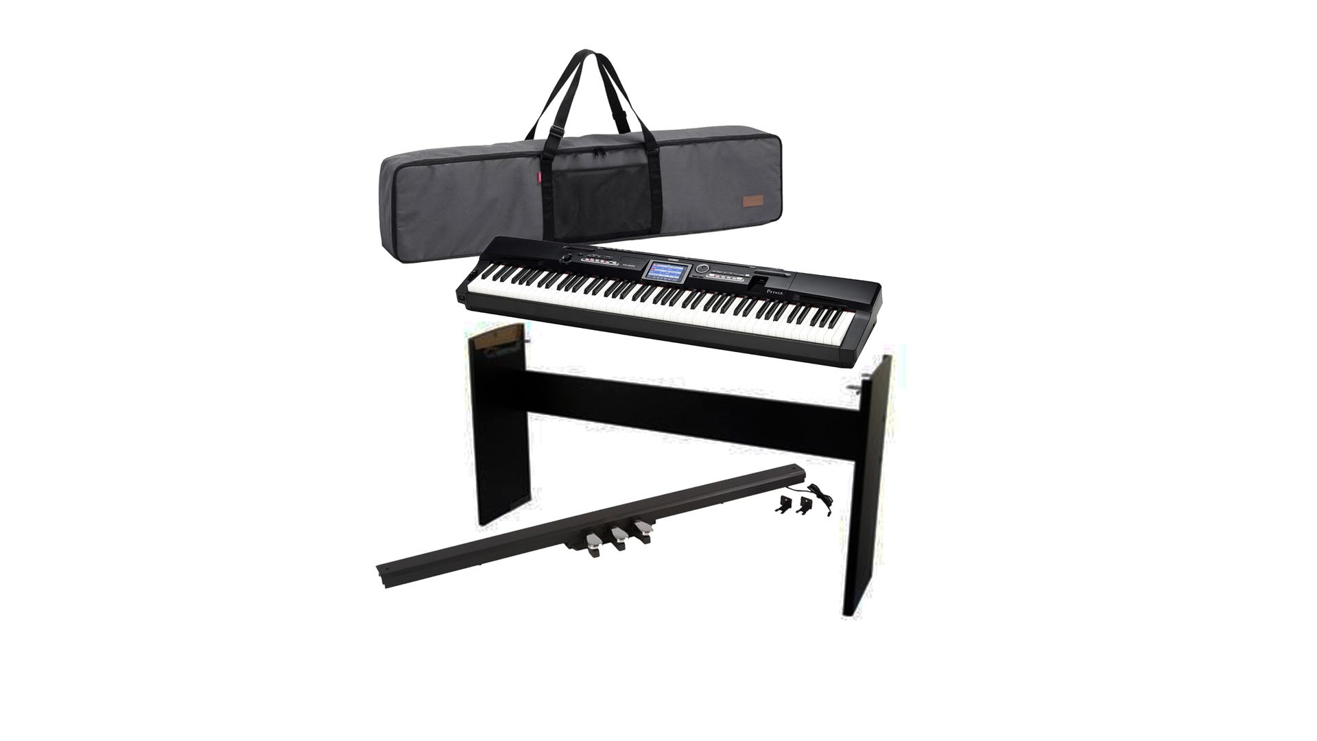 3e5a011a8a1 PIANO DIGITAL CASIO PX-360MBK PRIVIA 88 TECLAS   Estante Casio CS67 ...
