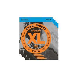 Kit-com-5-jogos-de-Encordoamento-Para-Guitarra-D-Addario-EXL110-010
