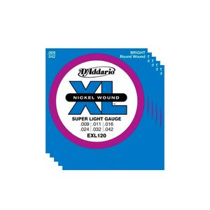 Kit-de-5-Jogos-de-Encordoamento-D-Addario-Guitarra-009-EXL120