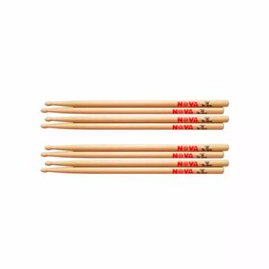 Kit-De-4-Pares-Baqueta-Nova-By-Vic-Firth-2b-Madeira