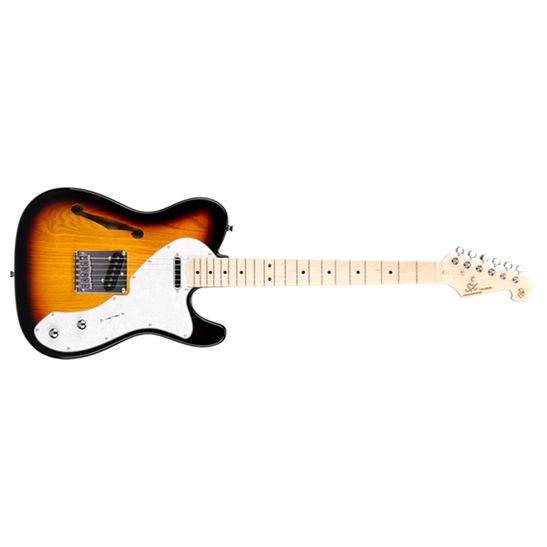 Guitarra-SX-Telecaster-STL-H-Hollow-Bady-Sunburst
