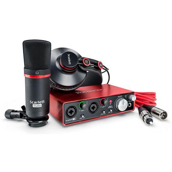 Kit-Interface-Focusrite-Scarlett-Studio-2i2