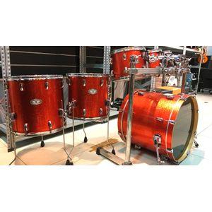 Bateria-Pearl-Vision-SST-Birch-Red-Sparkle-com-Rack-DR500--USADO-
