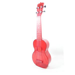 UKULELE-AKAHAI-GHOST-TRANSPARENT-RED