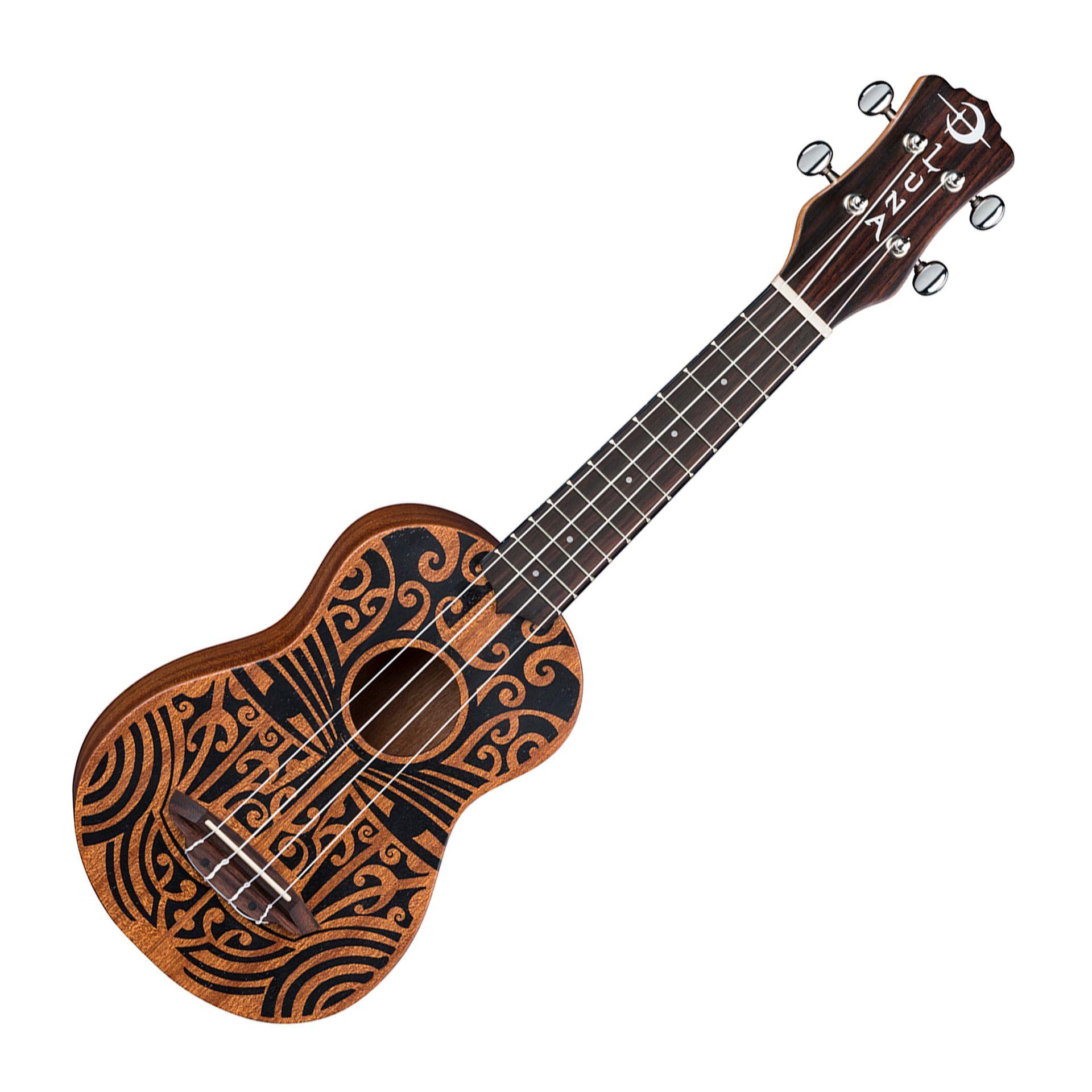 Ukulele Luna Tribal Soprano Mahogany X5music