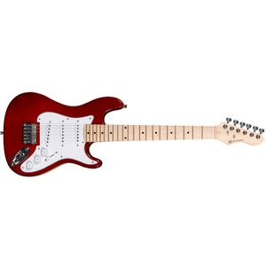GUITARRA-INFANTIL-MICHAEL-GM219-JUNIOR-3-CAPT-SINGLE-COIL-MR-VERMELHA