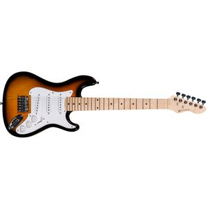 GUITARRA-INFANTIL-MICHAEL-GM219-JUNIOR-3-CAPT-SINGLE-COIL-VS-SUNBURST