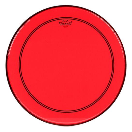 PELE-BUMBO-REMO-22-POWERSTROKE-3-COLORTONE-TRANSPARENTE-VERMELHA-P31322CTRD