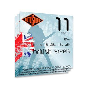 KIT-COM-3-ENCORDOAMENTO-PARA-GUITARRA-ROTOSOUND-BS11-BRITISH-STEEL-MEDIUM-011