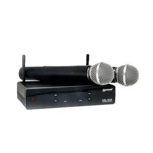 Lexsen-XSL-502-Microfone-sem-Fio-UHF-de-dois-canais-