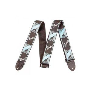 Correia-para-Instrumentos-Nylon-Monograma-Preta-Logo-Azul-FENDER-