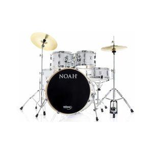 Bateria-Noah-Sc5-22-Poplar-White-Sparkle-Com-Pratos