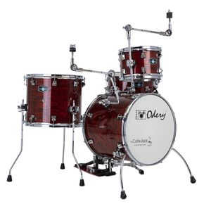 BATERIA-ODERY-CAFE-JAZZ-BLOODY-TIGER-BUMBO-16-COM-EXTANSORES
